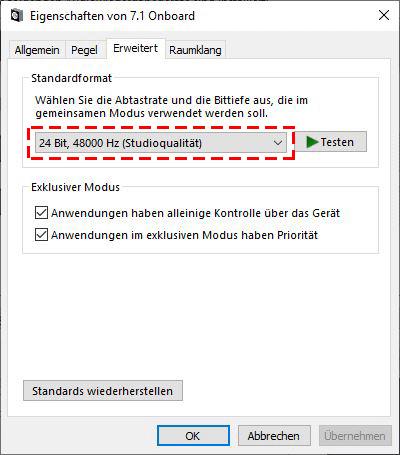 Windows Soundpanel Format