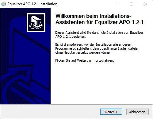 Equalizer APO Installation